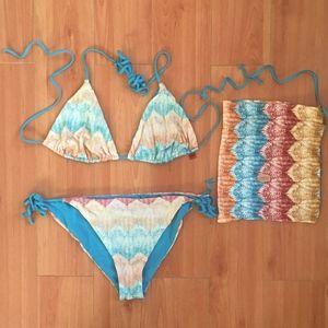 Missoni MARE Multicolor Zigzag Bikini IT 40/US 4